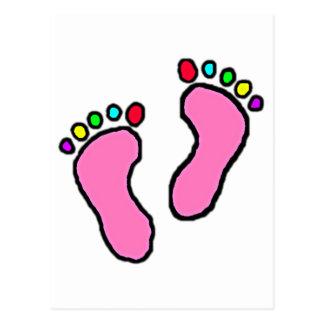 Colorful Feet Cartoon Postcard