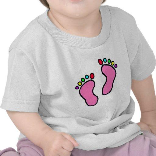 Colorful Feet Cartoon Tees
