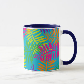 Colorful Fern Textile Abstract Coffee Mug