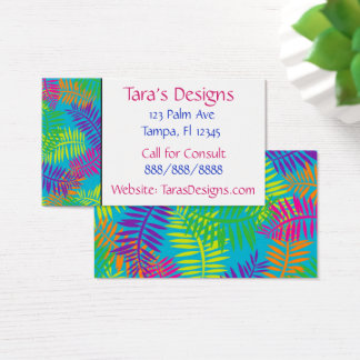 Colorful Fern Textile Business Cards