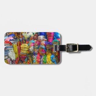 Colorful Fez Hats and Slippers Clothing Bag Tag