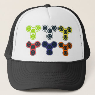 Colorful Fidget Spinner Collection Trucker Hat