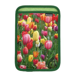 Colorful Field Of Tulips Flowers, iPad Mini Sleeve