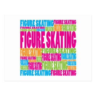 Colorful Figure Skating Postcard