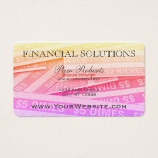 Colorful Financial Money Solutions Business Card