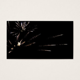Colorful firework at night business card