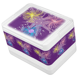 Colorful Fireworks 12 Can Igloo Cooler