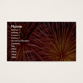 Colorful Fireworks, Canada Day Business Card