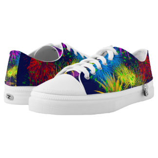 Colorful fireworks funny unique Low-Top sneakers
