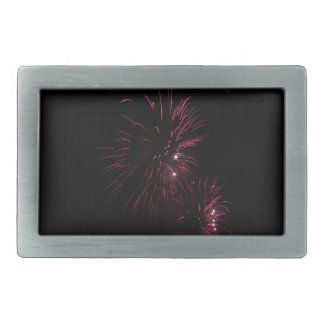 Colorful fireworks of various colors in the night belt buckle