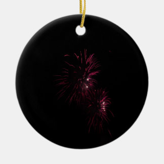 Colorful fireworks of various colors in the night ceramic ornament
