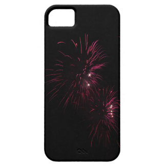 Colorful fireworks of various colors in the night iPhone 5 case