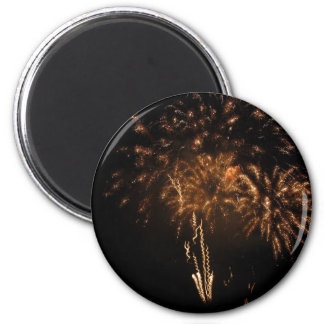 Colorful fireworks of various colors in the night magnet
