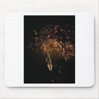 Colorful fireworks of various colors in the night mouse pad