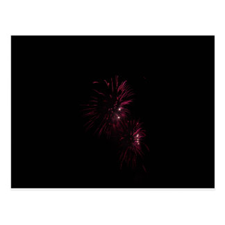 Colorful fireworks of various colors in the night postcard