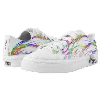 Colorful Fireworks ZIPZ Low Top Canvas Shoes
