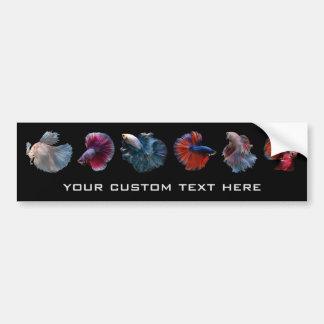 Colorful Fish custom text bumpersticker Bumper Sticker