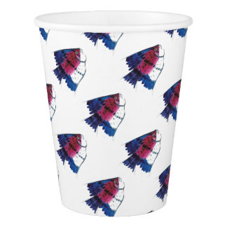 Colorful Fish Paper Cup
