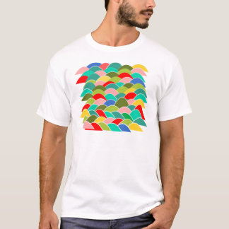 Colorful Fish Scale Pattern T-Shirt