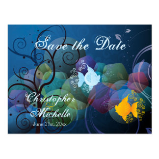 Colorful Fish Tropical Save the Date Wedding Postcard