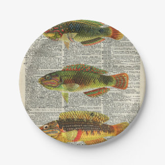 Colorful Fishes Paper Plate