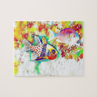 Colorful fishes puzzle