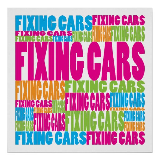 Colorful Fixing Cars Print