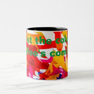 Colorful flags Two-Tone coffee mug