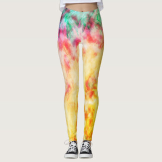Colorful Flame Leggings