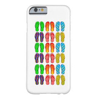 Colorful Flip Flops Fun Beach Theme iPhone 6 case Barely There iPhone 6 Case