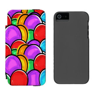 Colorful Floating Balloons Incipio Watson™ iPhone 5 Wallet Case