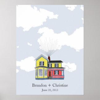 Colorful Floating Home Fingerprint Guestbook
