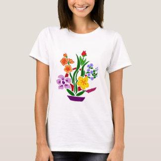 Colorful Floral Abstract Art Arrangement T-Shirt