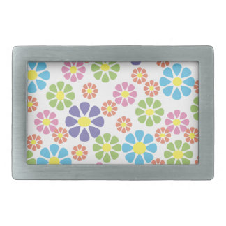 Colorful floral art pattern design belt buckle
