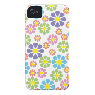 Colorful floral art pattern design Case-Mate iPhone 4 cases