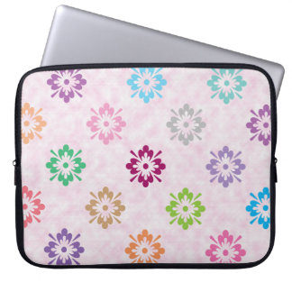 Colorful floral art pattern laptop sleeve