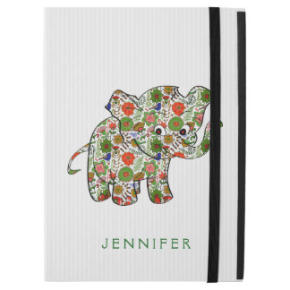 Colorful Floral Baby Elephant