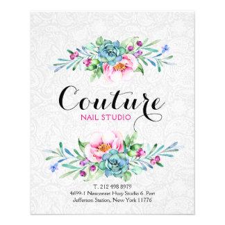 Colorful Floral Bouquet Menu List