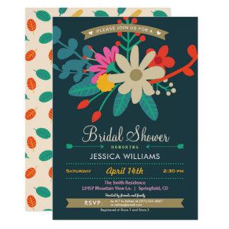 Colorful Floral Bridal Shower Invitation