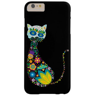Colorful Floral Cat Barely There iPhone 6 Plus Case