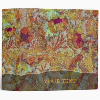 Colorful Floral Collage 3 Ring Binder