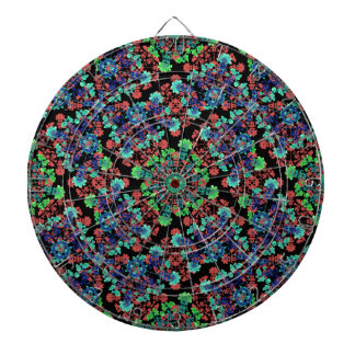 Colorful Floral Collage Pattern Dartboard