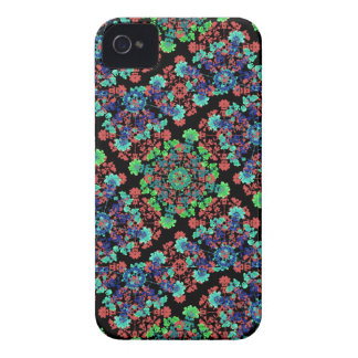 Colorful Floral Collage Pattern iPhone 4 Case