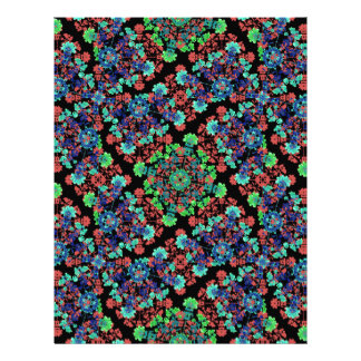 Colorful Floral Collage Pattern Letterhead