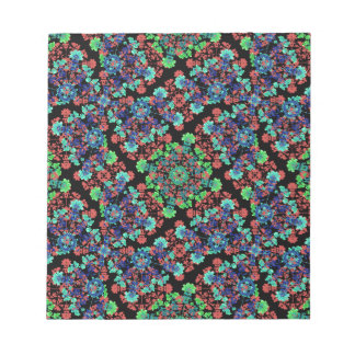 Colorful Floral Collage Pattern Notepad