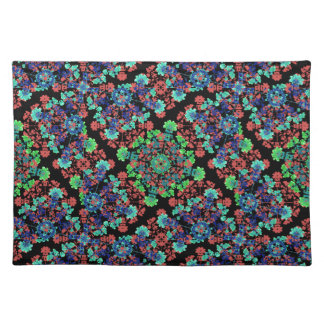 Colorful Floral Collage Pattern Placemat