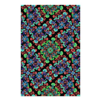 Colorful Floral Collage Pattern Stationery