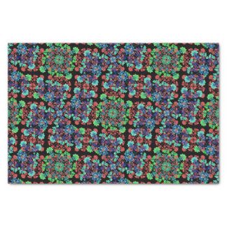 Colorful Floral Collage Pattern Tissue Paper
