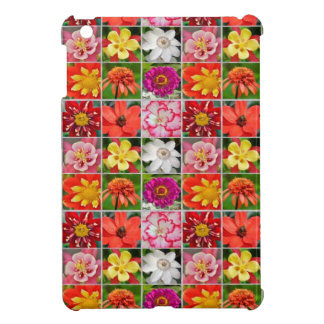 Colorful floral collage print ipad case