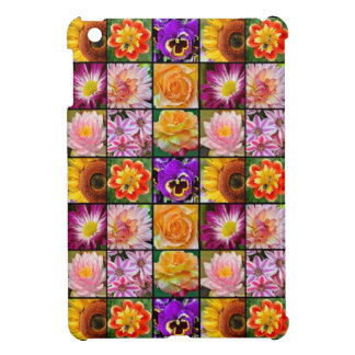 Colorful floral collage print ipad cover